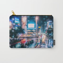 Rainy Night at Shibuyacrossing - throught the window Carry-All Pouch