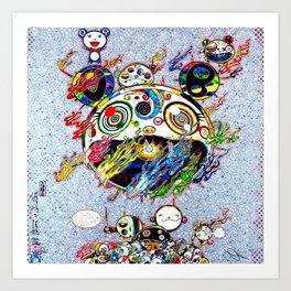 Takashi Murakami with Signature - Chaos Print Art Print