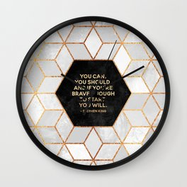 If you're brave enough / Design Milk Collab. Wall Clock