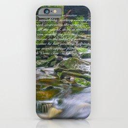 Zen Lao Tsu Quote Waterfall Nature Print iPhone Case