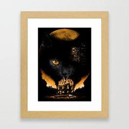 """""""The Black Cat"""" - Edgar Allan Poe Series Framed Art Print"""