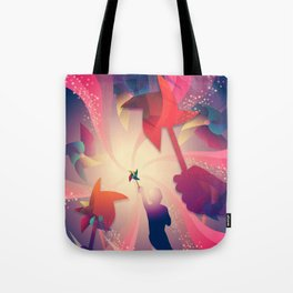 Let's Play Pinwheels Tote Bag