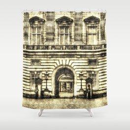 Buckingham Palace London Vintage Shower Curtain