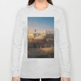 The Acropolis of Athens, Greece by Leo von Klenze Long Sleeve T-shirt