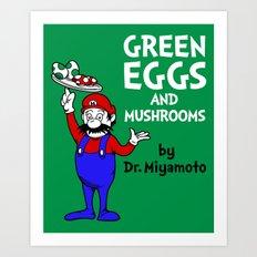 Green Eggs and Mushrooms Art Print