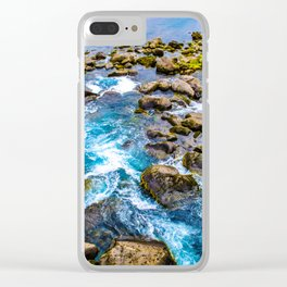 Waterfall at Thingvellir Clear iPhone Case