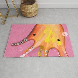 Octopus Orange Pink Ocean Rug
