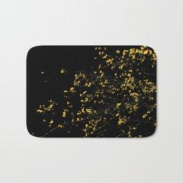 Butter Yellow Palo Brea Flowers on Black Bath Mat