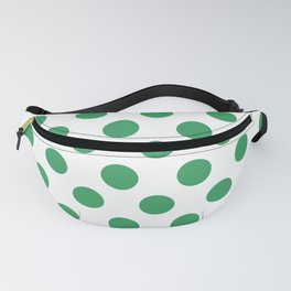 Kelly Green Medium Polka Dots Fanny Pack