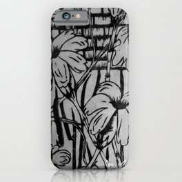 Black and White Palm Flowers by my Mom iPhone Case