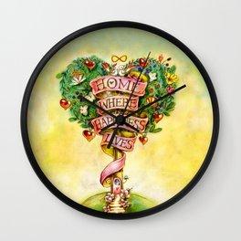 Tree of happiness! Wall Clock