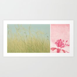 Nature diptych Art Print
