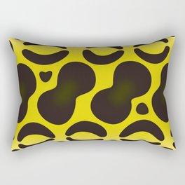 Yellow Anaconda Rectangular Pillow