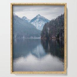 Beautiful lake, Bavarian alps Serving Tray