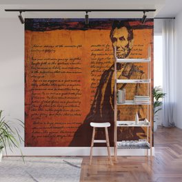 Abraham Lincoln and the Gettysburg Address Wall Mural