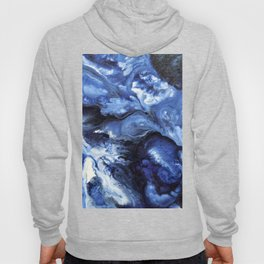 Swirling Blue Waters II - Painting Hoody