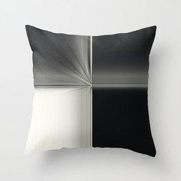 Modern Black White Block Zoom Design Throw Pillow