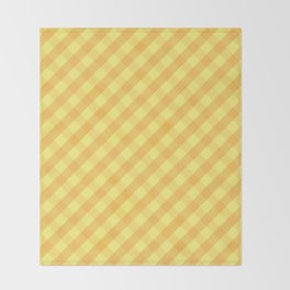 Yellow plaid Throw Blanket