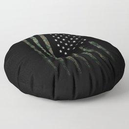 Khaki american flag Floor Pillow