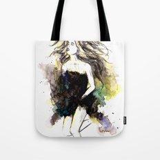 Watercolor Girl Tote Bag