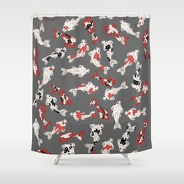 Koi pond #4 Shower Curtain