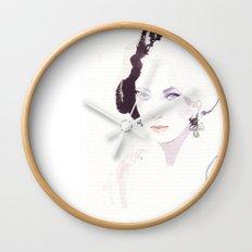 Fashion illustration in watercolors Wall Clock