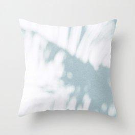 palm shadow Throw Pillow