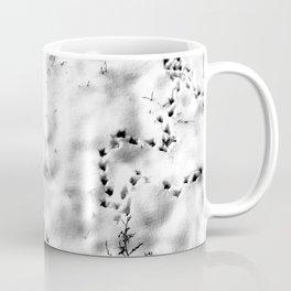 Bird steps in the snow Coffee Mug