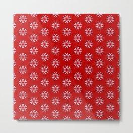 Snowflake Abstract Pattern Metal Print