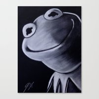 kermit Canvas Prints featuring KERMIT by John McGlynn