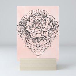 Night Rose Mini Art Print