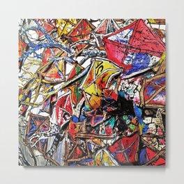 Kite Party Metal Print