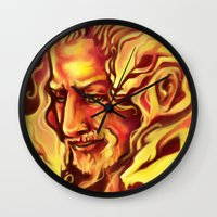 fili Wall Clocks featuring Fili Spirit of the Lion by MelColley