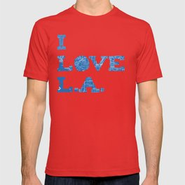 Los Angeles Street Map T-shirt