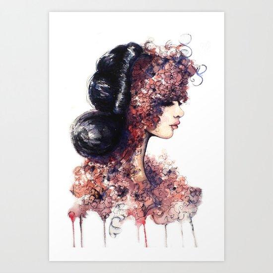 Flower Girl // Fashion Illustration Art Print