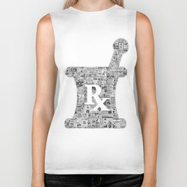 Pharmacy, pharmacy sign, medical, medicine, doctor gift: PANACEA Biker Tank