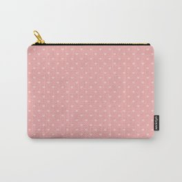 Two Tone Bright Blush Pink Mini Love Hearts Carry-All Pouch