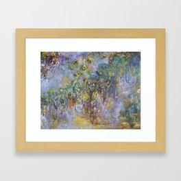 "Claude Monet ""Wisteria"", 1919-1920 Framed Art Print"