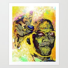 Icons-Malcolm X Art Print