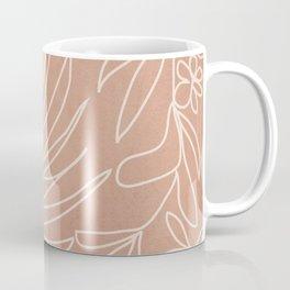 Engraved Tropical Line Coffee Mug