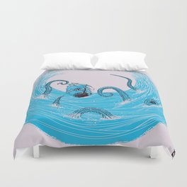 Kraken's Whirlpool Duvet Cover
