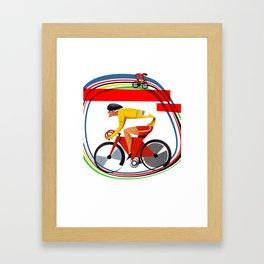 track racer cyclist Framed Art Print