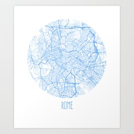 Rome. Blue Period Art Print