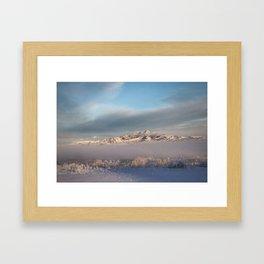 Heart Mountian Winter Fog Framed Art Print
