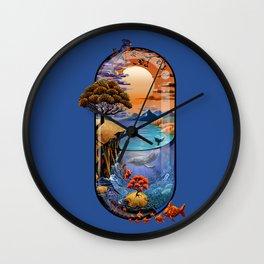 Nature is medicine Wall Clock