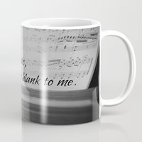 jane austen Mugs featuring Music Jane Austen by KimberosePhotography
