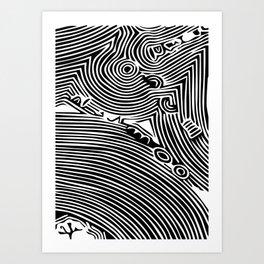 Minimal Line Tropical 2 Art Print