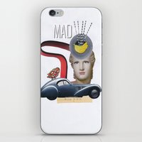 mad iPhone & iPod Skins featuring mad by fromdelphine