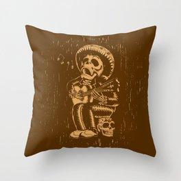 Dia De Los Muertos woodcut Throw Pillow