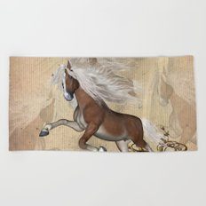 Wonderful wild horse Beach Towel